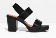 Heeled leather sandals, $85, available at