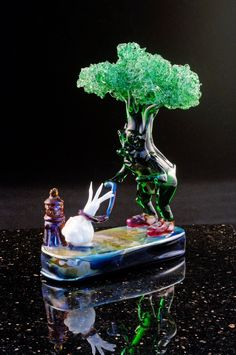 Take Me For a Walk by Paul Labrie. From the artist's lampworked series: