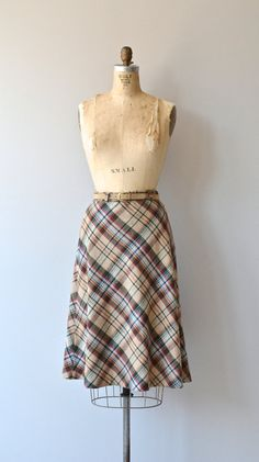 Library Plaid skirt 1970s wool plaid skirt plaid by DearGolden