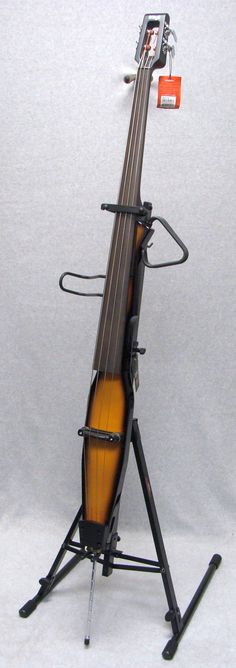 Stagg Electric Double Bass 3/4 Upright 4-String Violin Burst