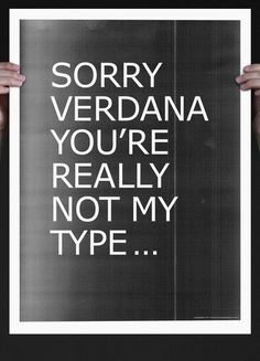Is Verdana your type?