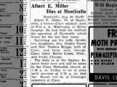 Miller, Albert E: Obituary, 26 Aug 1948