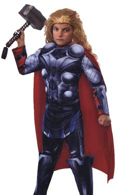 COSTUME DE THOR - TORSE MUSCLE (ENFANT) THOR COSTUME - MUSCLE CHEST (CHILD) COSTUMES
