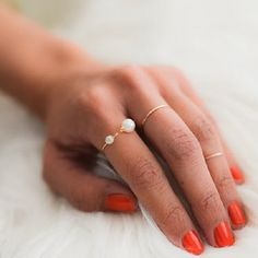 DIY Double Pearl Ring - so many fun diy's on this website! craftgawker.com