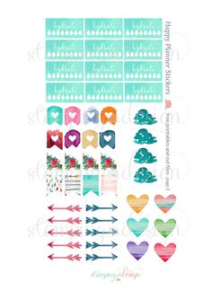 Happy Planner Stickers Freebies