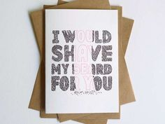 The Hungry Workshop Creates Cute, Quirky Cards #romance trendhunter.com