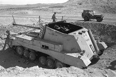 Abandoned Egyptian Archer tank destroyer, Abu Ageila, 1956 Suez Canal War