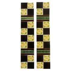 From our Antique tile range, this Original Victorian tile set is finished with a 4 square design; checkered blank with delicate yellow tones. The border adds a nice division in the pattern; especially when inserted into one of our beautiful traditional cast iron fireplaces. View the full range at our website