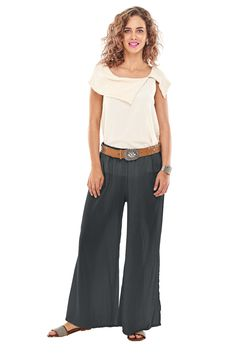 Oh My Gauze Polo Pant 100/% Comfortable Cotton Lagenlook