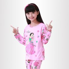 e7307ff853 Hot kids pajamas sets Lovely cartoon Sleepwear Children Home wear Boys Girls  long-sleeved nightwear models baby Clothes