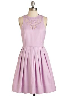 Presh Your Luck Dress. In a moment of stylish serendipity, you find this enchanting, lilac-hued frock just in time for tonights soiree! #lavender #modcloth