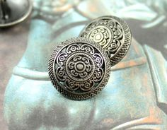 Lacework Filigree Metal Buttons , Nickel Silver Color , Shank , 0.91 inch , 10 pcs by Lyanwood, $6.50