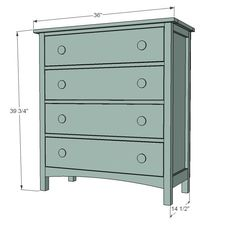 Ana White | Build a Patrick's Beach Cottage Dresser | Free and Easy DIY Project and Furniture Plans