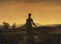 Caspar David Friedrich Woman before the Rising Sun oil painting for sale; Select your favorite Caspar David Friedrich Woman before the Rising Sun painting on canvas or frame at discount price. William Turner, Caspar David Friedrich Paintings, Casper David, Franz Marc, Jean Paul Sartre, Winslow Homer, Morning Light, Morning Sun, Claude Monet