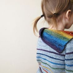 Ravelry: Lionessknits' Gathering Rainbows - gray and rainbow colors - a classic combination. I love that the colorful yarn used alone and also striped with the gray one in this pattern. Kids Knitting Patterns, Knitting For Kids, Knitting Projects, Baby Knitting, Rainbow Sweater, Baby Kind, Baby Sweaters, Kids Wear, Leg Warmers