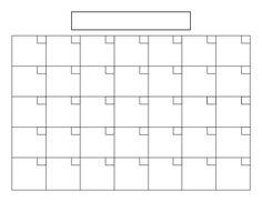 Best Photos of Printable Calendar Grid - Blank Calendar Grid Template, Printable Blank Calendar Template and Blank Printable Calendars Templates Excel Calendar Template, Printable Blank Calendar, Weekly Calendar, 2019 Calendar, School Calendar, Disney Calendar, Online Calendar, Holiday Calendar, Calendar Ideas