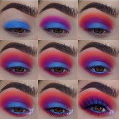 Pin by Vanessa Da SunShine on make up in 2019 Makeup Eye Looks, Eye Makeup Steps, Beautiful Eye Makeup, Eye Makeup Art, Cute Makeup, Skin Makeup, Eyeshadow Makeup, Easy Makeup, Simple Makeup