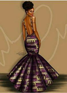 Peniel_enchill My favorite artist. Sexy Black Art, Black Love Art, Black Girl Art, My Black Is Beautiful, Black Girl Magic, African Inspired Fashion, African Print Fashion, African Fashion Dresses, Fashion Prints