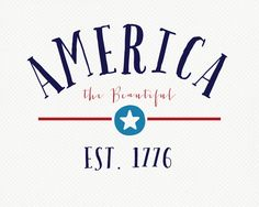Fourth of July Printable: America The Beautiful. Gonna print this bad boy on BURLAP!!