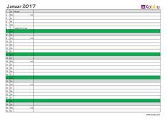 Download kostenlos Excel PDF #vorlage #xobbu #printable #calendar #kalender #2017 #geburtstag #planner #todo #diy #organisation  http://www.xobbu.com/kalender-2017/