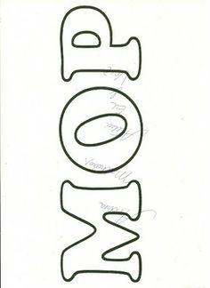 Moldes Feltro: Alfabeto
