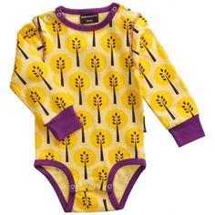 Yellow Tree Organic Onesie - ittikid • Scandinavian Children's Clothes - Scandinavian Baby and Kids Clothes | Organic Eco Friendly Kids Clothes from Smafolk, Maxomorra, Duns Sweden, Sture & Lisa