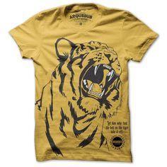 Tiger Tee Mens Yellow