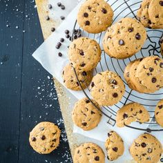 Gluten-Free, Vegan Chocolate Chip Cookies, made in one bowl!