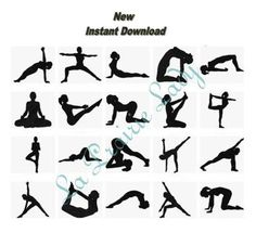 40 Embroidery designs Yoga Positions .  20 fill stitch and 20 outlines.  Fit Hoop 4x4  I send the default format .HUS and .PES All Formats embroidery machine available, just ask me.  Paypal and Direct Checkout https://www.etsy.com/help/article/339  Free shipping via email only  You may also sell your projects where you have stitched out my designs.  Thanks