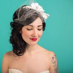 Ivory Birdcage veil, photo by @seandphoto #tbt #weddingphotography