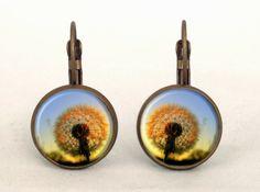 DANDELION Earrings, 0215ERB from EgginEgg by DaWanda.com