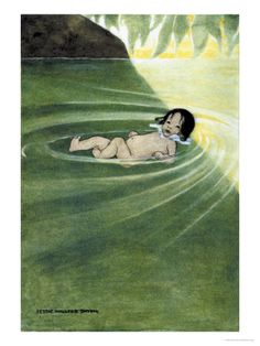 With Nothing On from The Water Babies  Jessie Willcox Smith