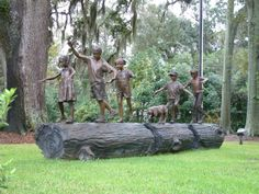 """""""Florida's Finest - Follow the Leader"""" - Sculpture in front of the Florida Governor's Mansion in Tallahassee, Florida. By Sandy Proctor."""