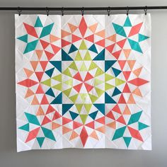 """193 Likes, 42 Comments - Amanda Brown (@myfabricheart) on Instagram: """"Quite possibly the prettiest thing I've ever made. I'm in love. #fabricheartmade #kaleidoscope…"""""""