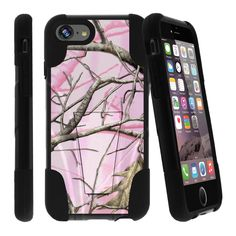Apple iPhone 7 4.7 Case STRIKE IMPACT Double Layered Kickstand Case - Pink Hunters Camo