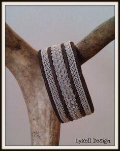 Lapland Sami Bracelet Reindeer leather Custom made by liten82, $82.00
