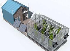 A pesar de que el invernadero no tiene una unidad de motor, éste es capaz de producir su propia energía a través de dos paneles solares que se colocan en la terraza. La primera imagen que se nos viene a la cabeza cuando pensamos en agricultura es un