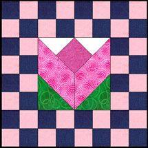 tulip+quilt+block+pattern | How to Quilt: quilt block patterns, free quilting patterns