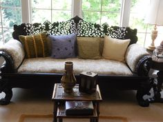 Intricately Carved Empire Sofa by Serenities on Etsy https://www.etsy.com/listing/202245126/intricately-carved-empire-sofa