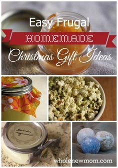 These Easy and Frugal Homemade Christmas Gifts are sure to please - from sweet or salty treats to personal and home care, there's something for everyone.