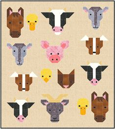 Farm Friends Quilt Pattern PDF Instant Download by SewFreshQuilts