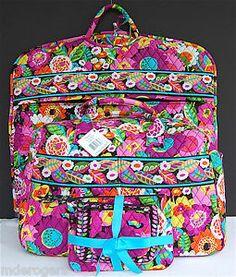 vera bradly island bloom and va va bloom | Details about Vera Bradley Va Va Bloom Garment Bag Weekender Cosmetic ...