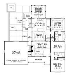 A House Videos Ranch Style Building A House Ideas Floor Plans Bonus Rooms Key: 9439897608 Big Shower, Unique Floor Plans, Craftsman Cottage, Side Porch, Ceiling Treatments, Ranch Style Homes, Conceptual Design, Closet Designs, Building A House