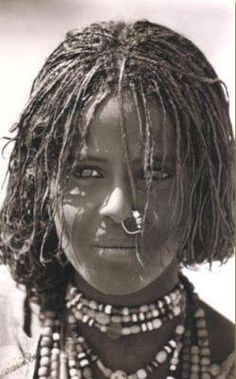 A female from the Beja People, the remaining ancestry of the True Egyptians...