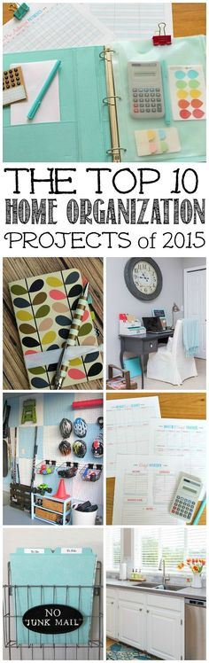 Awesome {and do-able!} organization ideas to get your home decluttered and organized as well as tips to help you get more things done!