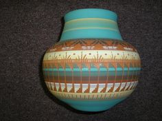 AMERICAN NATIVE POTTERY VASE, SIGNED