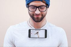 Povie turns your smartphone into a necklace for shooting first-person video — The Verge Selfies, Phone Logo, Postnatal Workout, Swedish Recipes, Bath And Beyond Coupon, Cell Phone Holder, Point Of View, Smartphone, Iphone