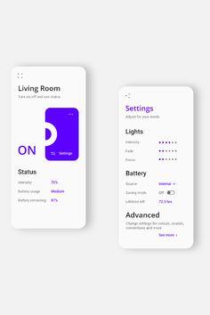 Light mode UX/UI for LED control system designed by Ugnius Ragauskas. Mobile App Design, App Ui Design, Logo Design, Interface Design, Design Websites, Web Design Awards, Portfolio Design, Conception D'applications, Ui Ux Design