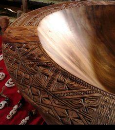 Hand Carved Tongan Kava Bowl (Kumete)
