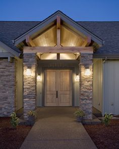 Entry - rustic - entry - portland - by Kaufman Homes, Inc.